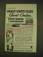 1935 United Fruit Company Ad - Great white fleet guest cruises to west indies