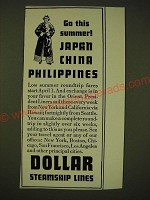 1935 Dollar Steamship Lines Ad - Go this summer! Japan China Philippines