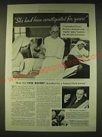1933 Fleischmann's Yeast Ad - Dr. Roger Savignac Ad - She had been Constipated