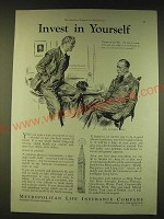1933 Metropolitan Life Insurance Company Ad - Invest in yourself