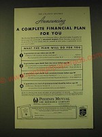 1933 Phoenix Mutual Life Insurance Ad - Announcing a complete financial Plan