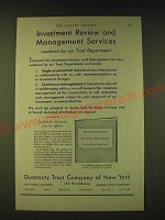 1933 Guaranty Trust Company of New York Ad - Investment review