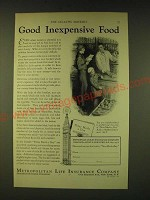 1933 Metropolitan Life Insurance Company Ad - Good inexpensive food
