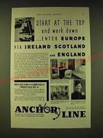 1933 Anchor Line Cruise Ad - Start at the top and work down