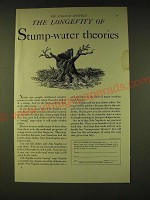 1933 Fels Naptha Soap Ad - The longevity of stump-water theories