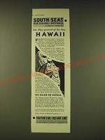 1933 Matson Line Oceaninc Line Cruise Ad - The Play-ground of the Sun Hawaii