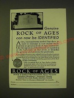 1933 Rock of Ages Ad - Genuine Rock of Ages can now be identified