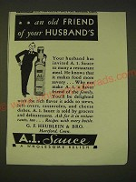 1933 A.1. Sauce Ad - an old friend of your husband's
