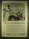 1931 Nash Cars Ad - Take your first sound-proofed ride
