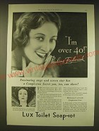 1931 Lux Toilet Soap Ad - Photo by Ray Huff of Pauline Frederick