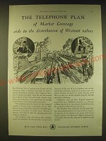 1931 Bell Telephone System Ad - The telephone plan of market coverage aids