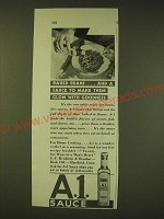 1931 A.1. Sauce Ad - Baked beans And a sauce to make them glow with goodness