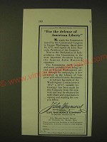 1931 John Hancock Life Insurance Ad - For the defense of American Liberty
