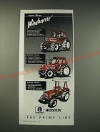 1990 Hesston 160-90, 100-90 and 65-56 tractors Ad - More than windrowers