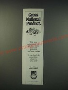 1990 Forest Service USDA Ad - Gross national product