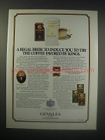 1990 Gevalia Kaffe Coffee Ad - A regal bribe to induce you to try the coffee
