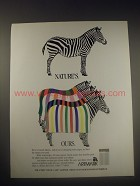 1990 Artmark Fabrics Ad - Nature's. Ours.