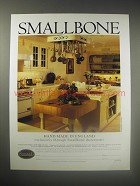 1990 Smallbone Kitchen Cabinets Ad - Hand Made in England Exclusively