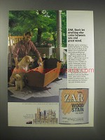 1990 Zar Wood Stain Ad - Zar. Don't let anything else come between you