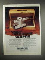 1990 Porter-Cable Limited-Edition Commemorative Sander Ad - First in finishing