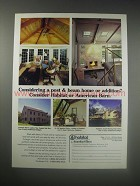 1990 Habitat and American Barn Homes and Additions Ad