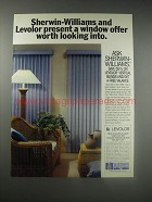 1990 Sherwin-Williams Levolor Vertical Blinds Ad - Sherwin-Williams and Levolor