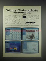 1990 Microsoft Ad - Windows Version 3.0, Excel, Project, Word and PowerPoint