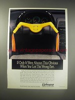 1990 Mopar Chrysler Motor Parts Ad - If only it were always this obvious