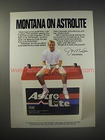 1990 Astro Lite Car Batteries Ad - Joe Montana - Montana on Astrolite