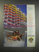 1990 Carnival Crystal Palace Cruise Ad - There's never a dull moment