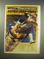 1990 Coors Extra Gold Beer Ad - The best of Supercross Coors Extra Gold Super