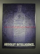 1990 Absolut Vodka Ad - Absolut Intelligence