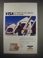 1990 Visa Credit Card Ad - Visa as easy to use abroad