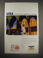 1990 Visa Credit Card Ad - Visa as easy to use abroad as at home