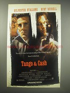 1990 Tango & Cash Movie Ad - Sylvester Stallone and Kurt Russell