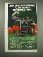 1990 Delta Woodworking Tools Ad - Christmas Shop