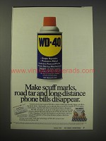 1990 WD-40 Lubricant Ad - Make scuff marks, road tar disappear