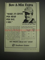 1990 Southern States Ad - Bov-a-Min Extra makes 25 cents per head per day
