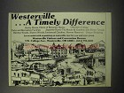 1990 Westerville Ohio Visitors and Convention Bureau Ad - A Timely Difference