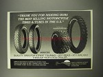 1990 Greenball Barracuda and Ground Buster Tires Ad - Thank you