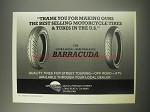 1990 Greenball Barracuda Tires Ad - Thank you for making ours the best