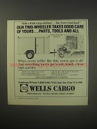 1990 Wells Cargo Cycle Wagon TW101-M Trailer Ad - takes good care of yours