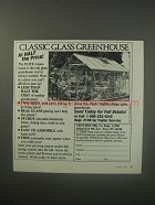 1990 Troy-Bilt Elite Greenhouse Ad - Classic Glass greenhouse at half the price