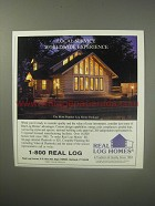 1990 Real Log Homes Ad - Local service worldwide experience