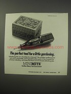 1990 Dremel MiniMite Ad - The perfect tool for a little gardening