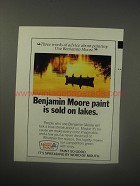 1990 Benjamin Moore Paint Ad - Benjamin Moore paint is sold on lakes