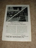 1925 Marmon Car Ad, Broadway or Highway NICE!