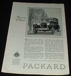 1925 Packard Eight Car Ad, Mastery of Power!!
