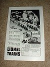 1947 Lionel Train Ad, Watch Them Puff Hear Them Whistle