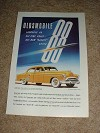 1951 Oldsmobile Rocket 88 Car Ad, All-Time Great NICE!!
